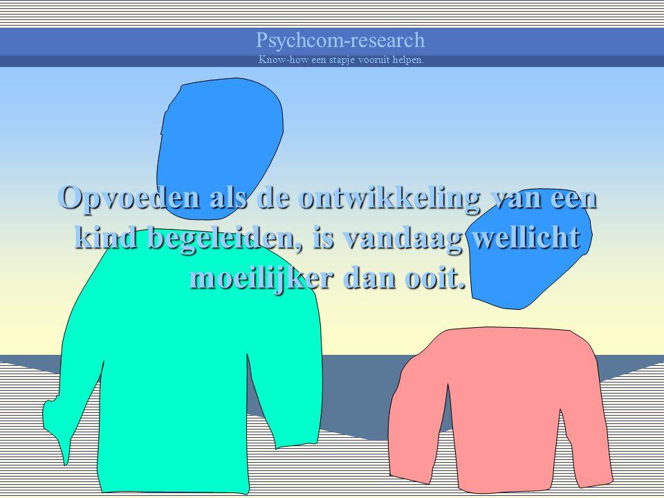 Psychcom-research Know-how een stapje vooruit helpen. Belonen en straffen Over ontwikkelingsbegeleiding