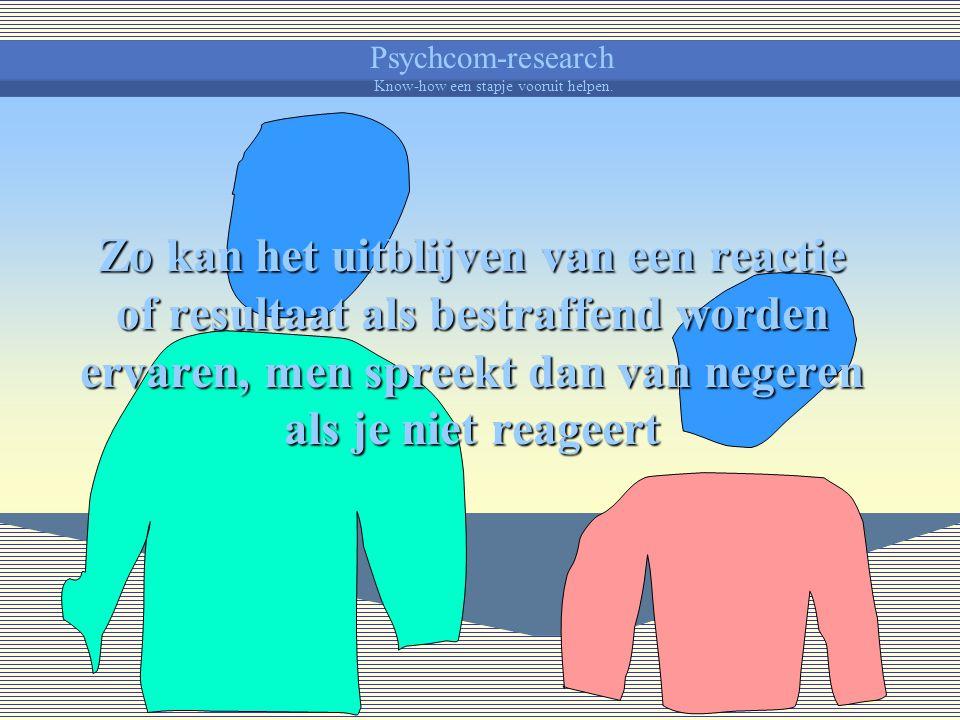Psychcom-research Know-how een stapje vooruit helpen. Een straf is in wezen iets onaangenaams.