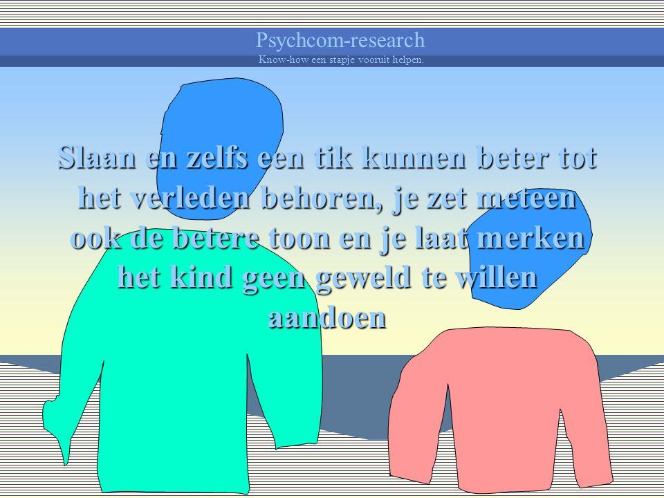 Psychcom-research Know-how een stapje vooruit helpen. Zo kan het uitblijven van een reactie of resultaat als bestraffend worden ervaren, men spreekt d