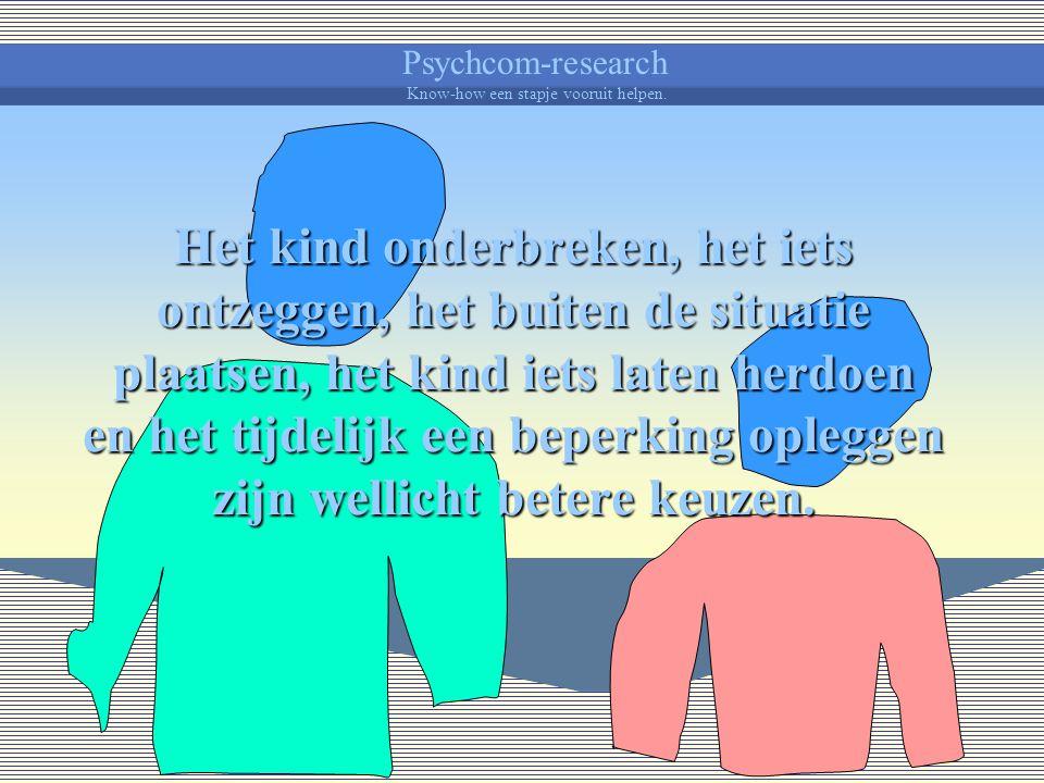 Psychcom-research Know-how een stapje vooruit helpen. Zo weet je zeker dat het geen geweld van je opgestoken heeft.