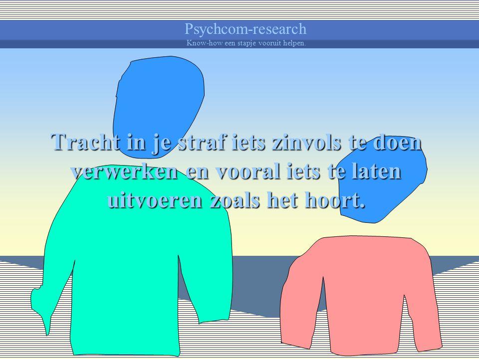Psychcom-research Know-how een stapje vooruit helpen. Het kind onderbreken, het iets ontzeggen, het buiten de situatie plaatsen, het kind iets laten h