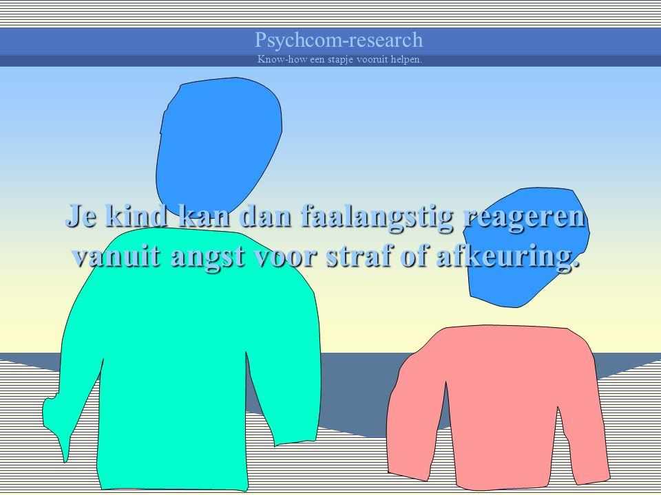 Psychcom-research Know-how een stapje vooruit helpen. Je kind kan bij regelmatig gebruik angstig en onzeker worden en een negatief zelfbeeld ontwikkel