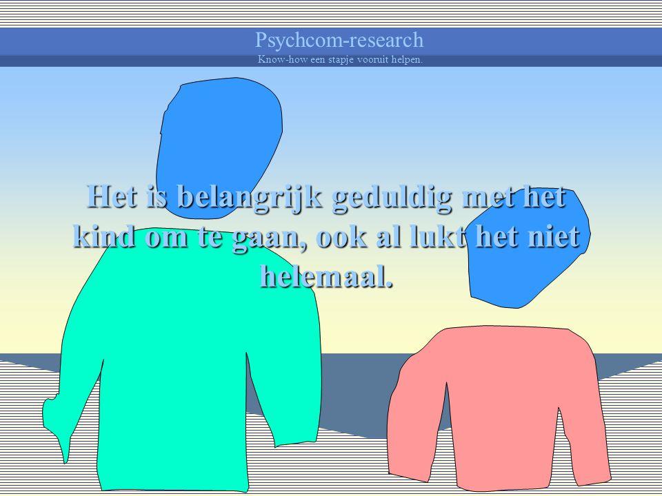Psychcom-research Know-how een stapje vooruit helpen. Elke straffende ervaring, vooral als ze persoonlijk overkomt, kan een verdedigende en afwerende
