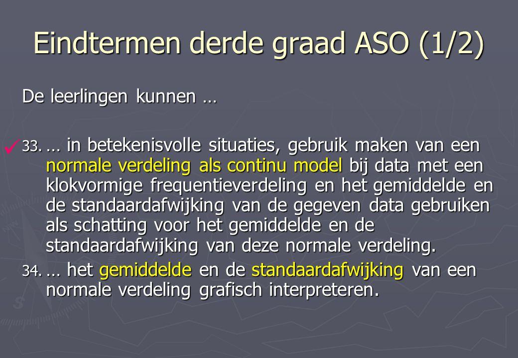 Eindtermen derde graad ASO (1/2) De leerlingen kunnen … 33.