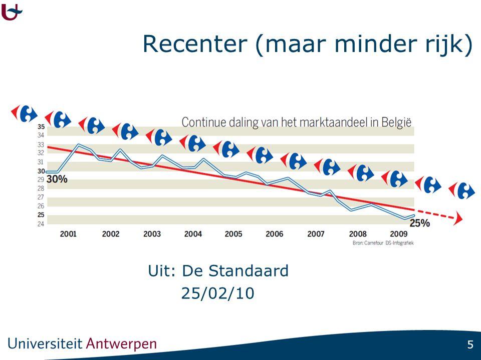 5 Recenter (maar minder rijk) Uit: De Standaard 25/02/10