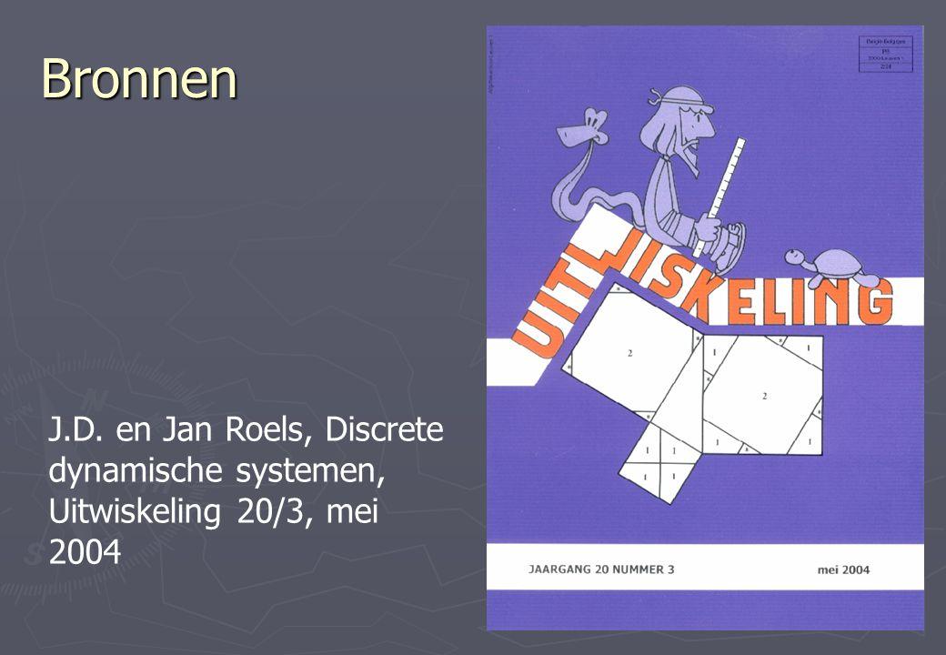 Bronnen J.D. en Jan Roels, Discrete dynamische systemen, Uitwiskeling 20/3, mei 2004