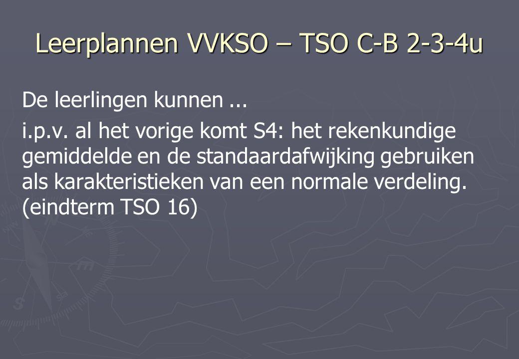 Leerplannen VVKSO – TSO C-B 2-3-4u De leerlingen kunnen...
