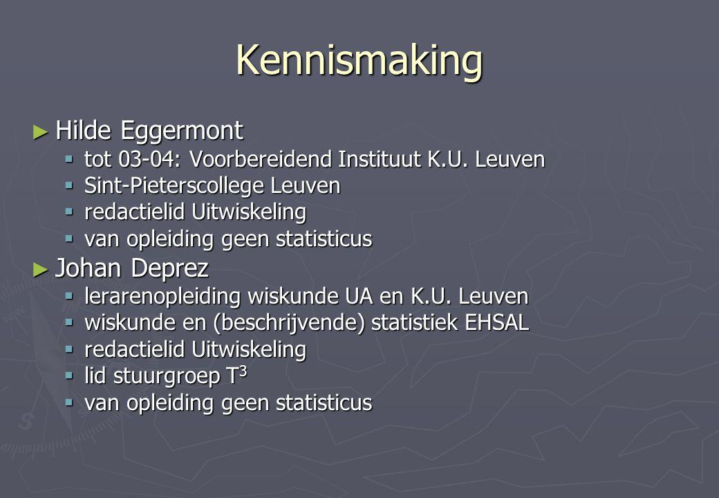 Kennismaking ► Hilde Eggermont  tot 03-04: Voorbereidend Instituut K.U.