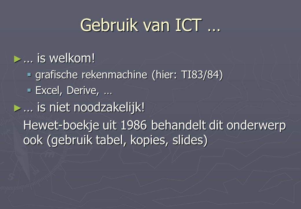 Gebruik van ICT … ► … is welkom.