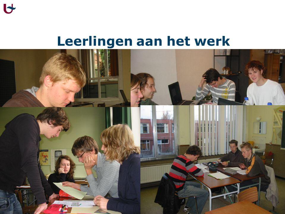 Leerlingen aan het werk