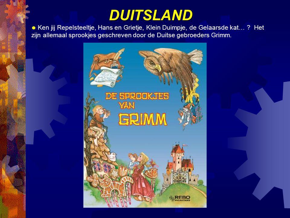 DUITSLAND  Ken jij Repelsteeltje, Hans en Grietje, Klein Duimpje, de Gelaarsde kat… .