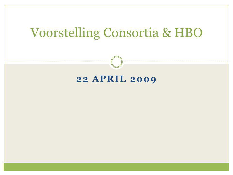 22 APRIL 2009 Voorstelling Consortia & HBO
