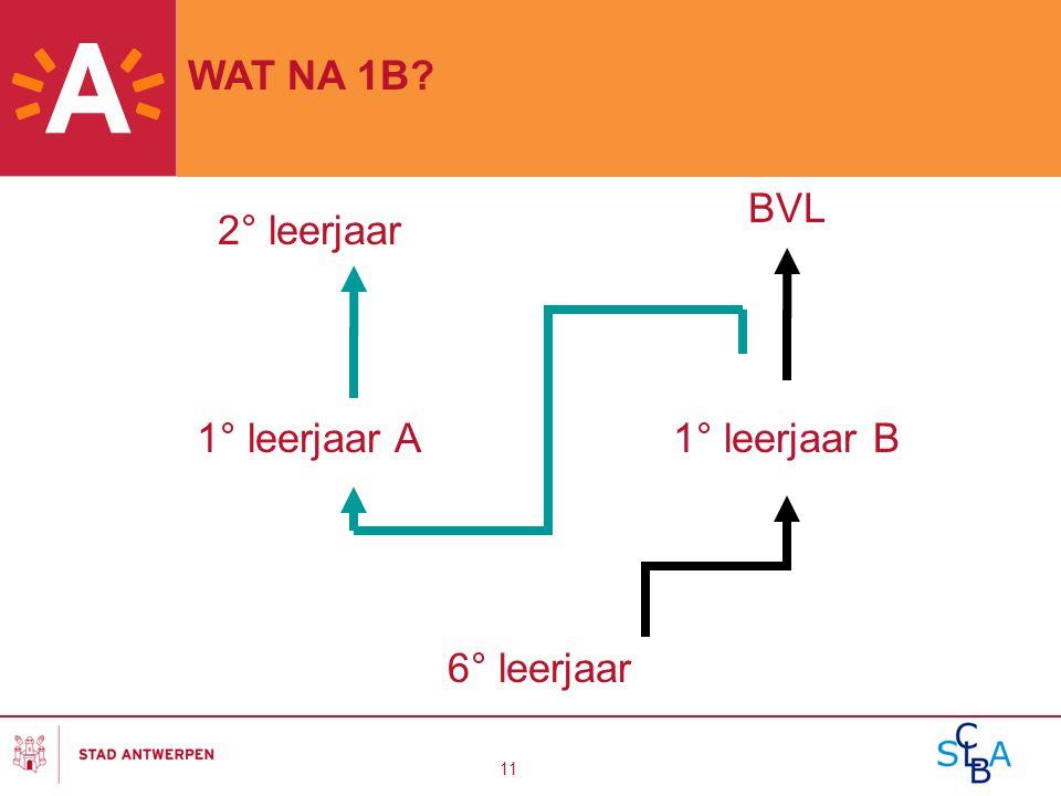 11 1° leerjaar A1° leerjaar B 2° leerjaar BVL 6° leerjaar WAT NA 1B?