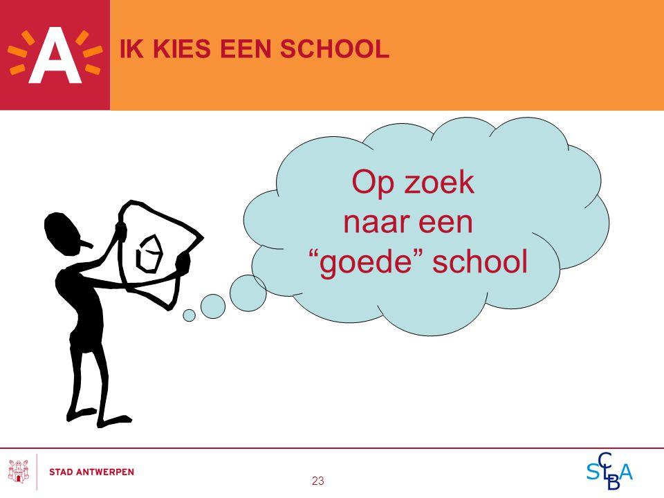 """23 IK KIES EEN SCHOOL Op zoek naar een """"goede"""" school"""