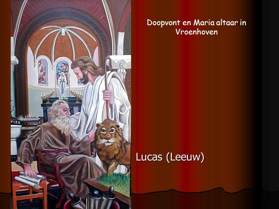 Lucas (Leeuw) Doopvont en Maria altaar in Vroenhoven