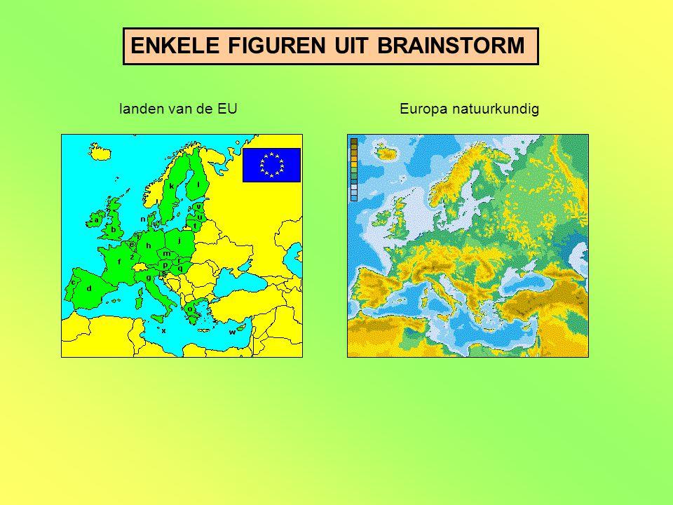 ENKELE FIGUREN UIT BRAINSTORM landen van de EUEuropa natuurkundig