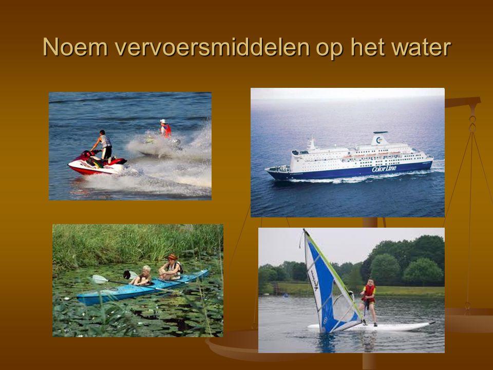 Noem vervoersmiddelen op het water
