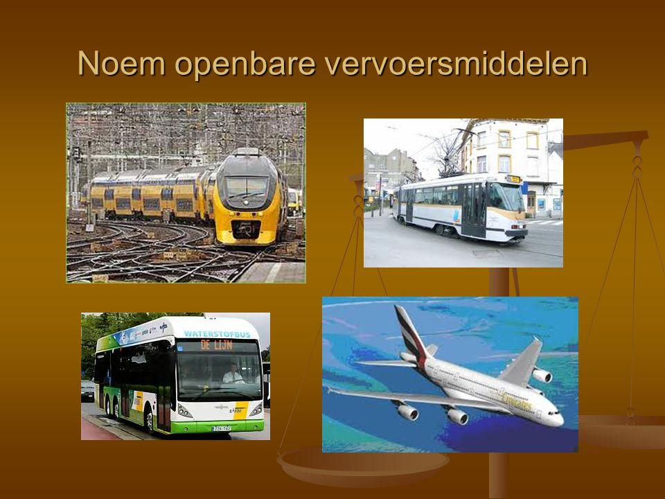 Noem openbare vervoersmiddelen