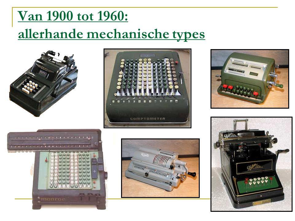 De voorlopers van de elektronische rekenmachine De Colossus (1943) was de eerste elektronische computer De Eniac (1946), de eerste Amerikaanse computer