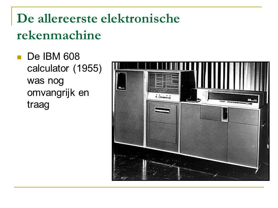 De eerste draagbare elektronische rekenmachines Anita (1961) Sharp, de eerste Japanse rekenmachine (1964)