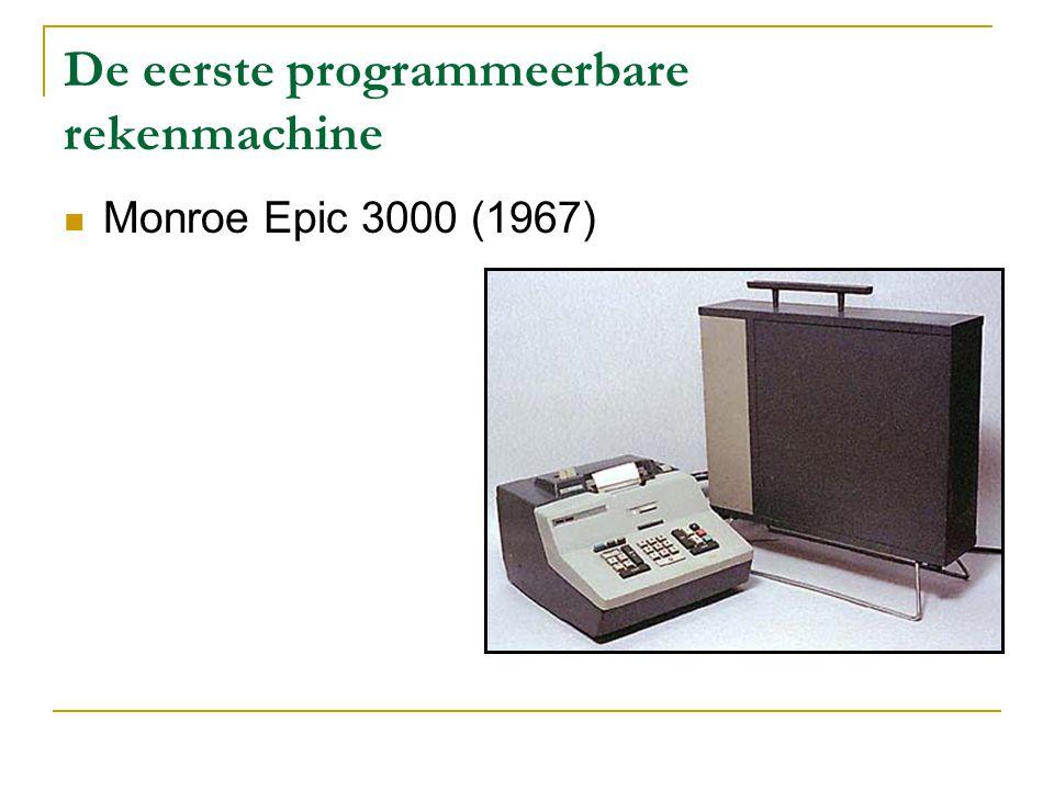 Van 1970 tot 1985 De rekenmachines worden kleiner De HP-35 is de eerste wetenschappelijke rekenmachine Van LED – uitlezing naar LCD - uitlezing Foto-voltaïsche toestellen doen hun intrede (1978) Rekenmachines worden goedkoper en voor iedereen toegankelijk