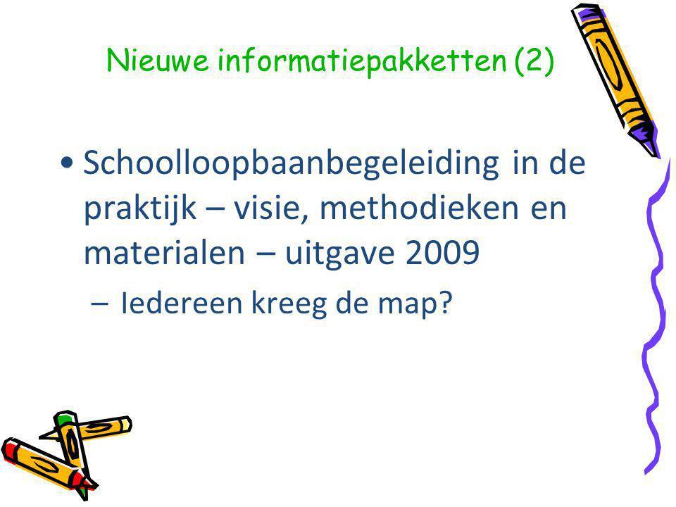 Schoolloopbaanbegeleiding in de praktijk – visie, methodieken en materialen – uitgave 2009 – Iedereen kreeg de map.