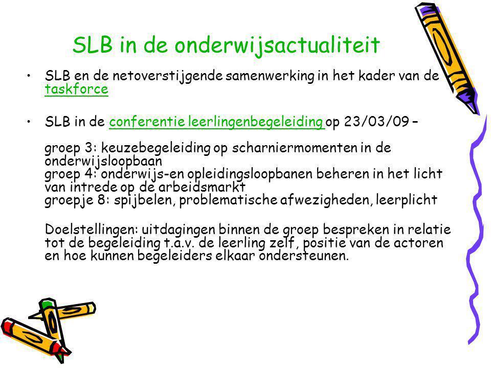 De 3 consortia CVO Vlaams-Brabant en Brussel hebben een website http://www.zeevanmogelijkheden.be/ http://www.zeevanmogelijkheden.be/ Hoger Beroepsonderwijs van het Volwassenonderwijs: algemene informatietekst + ppt van Marc+ webpagina voor Vlaams Brabant en West- Vlaanderen op www.digiclb.be/hbov algemene informatietekst ppt van Marcwww.digiclb.be/hbov Afsluitend evenement Spijbelactieplan (20-02-09): alle teksten op www.ond.vlaanderen.be/leerplichtwww.ond.vlaanderen.be/leerplicht Varia (2)