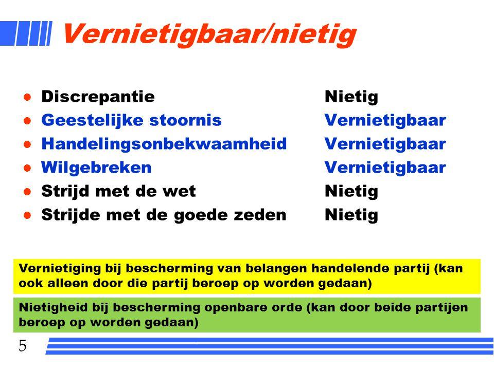 16 Inhoud overeenkomst l Partijafspraak l Wet l Gewoonte l Redelijkheid en billijkheid (niet alleen als aanvulling, maar ook als beperking inhoud overeenkomst)
