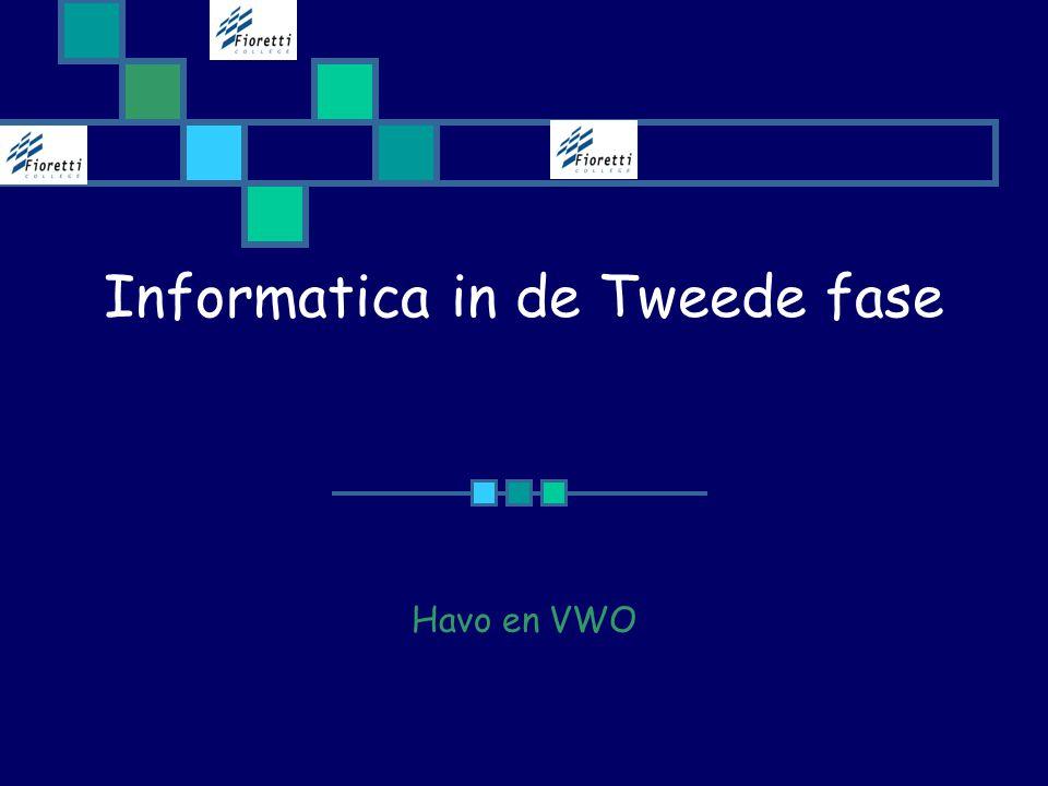 Informatica in de Tweede fase Havo en VWO