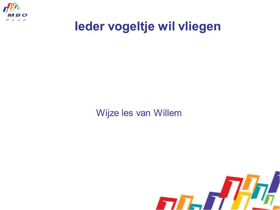 Ieder vogeltje wil vliegen Wijze les van Willem