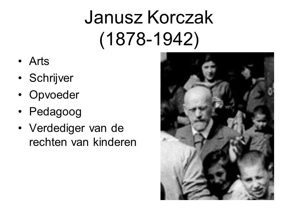 Tot slot: wat kunnen we leren van Janusz Korczak Klassieke opvoedingsdeugden: vertrouwen, moed, hoop Zelfbezinning, kalmte De dag van vandaag waarderen en pedagogisch benutten in 'instituties' Respect voor en gebruiken van diversiteit