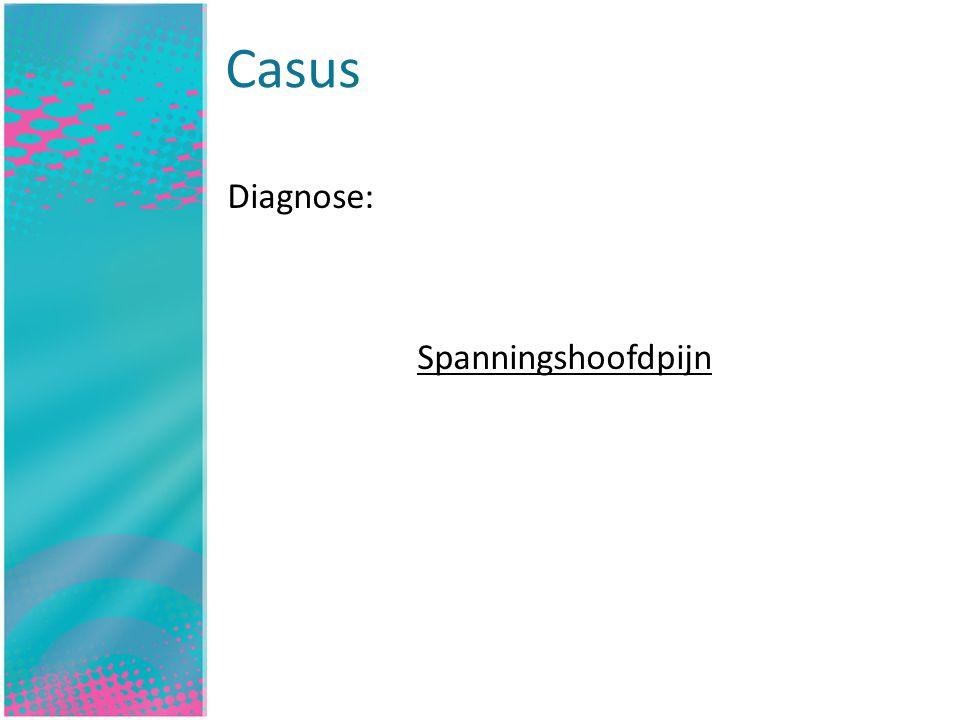 Inleiding Diagnose: Spanningshoofdpijn Casus