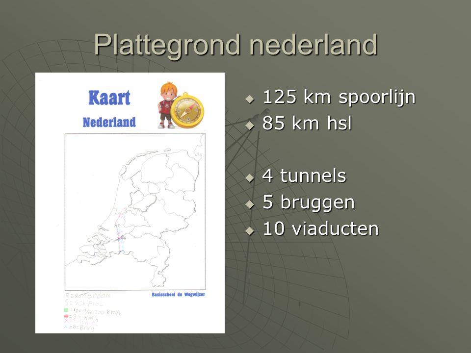Tunnels en bruggen LLLLangste tunnel: Boortunnel Groene hart van 7 km LLLLangste brug: Hollands diep van 2 km LLLLangste viaduct: Bleiswijk van 6 km