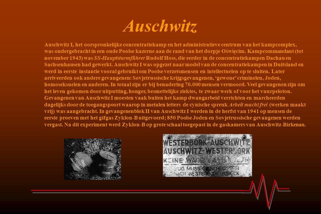 Auschwitz Auschwitz I, het oorspronkelijke concentratiekamp en het administratieve centrum van het kampcomplex, was ondergebracht in een oude Poolse k