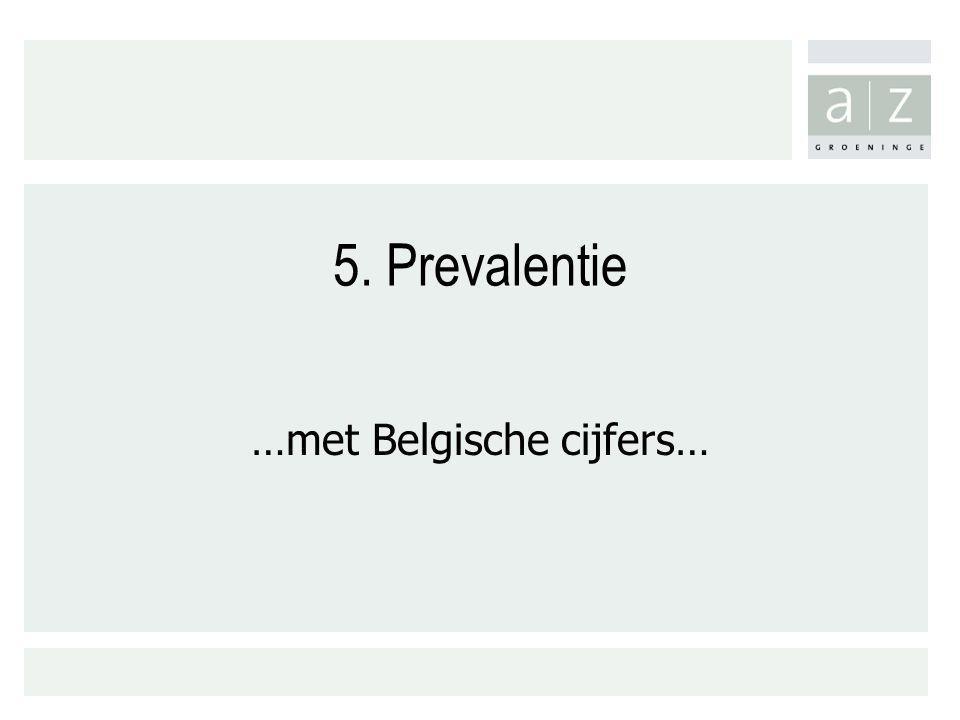 5. Prevalentie …met Belgische cijfers…