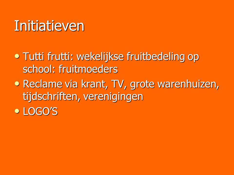 Initiatieven Tutti frutti: wekelijkse fruitbedeling op school: fruitmoeders Tutti frutti: wekelijkse fruitbedeling op school: fruitmoeders Reclame via