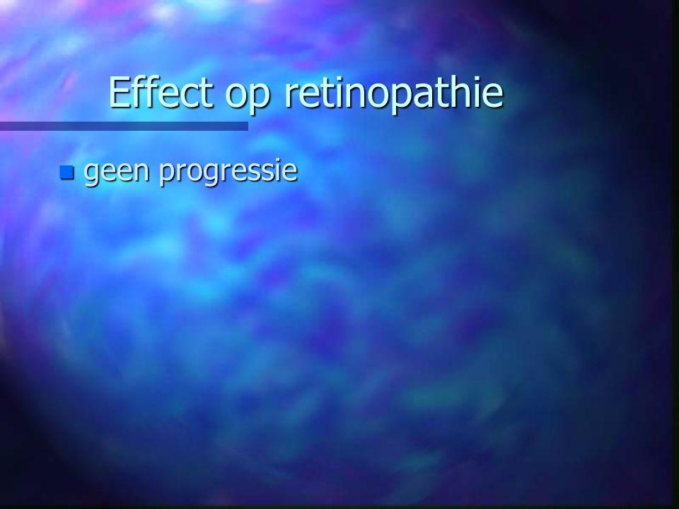 Effect op retinopathie n geen progressie