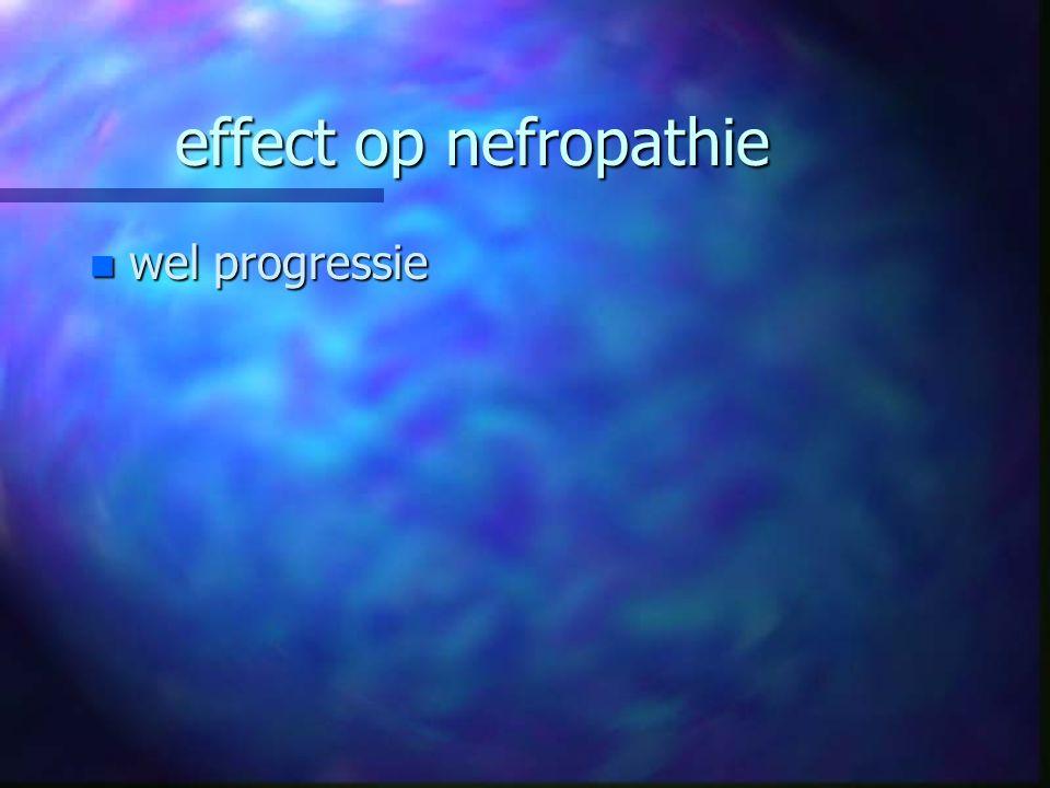 effect op nefropathie n wel progressie