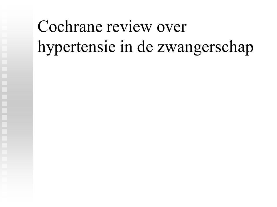 Cochrane review over hypertensie in de zwangerschap