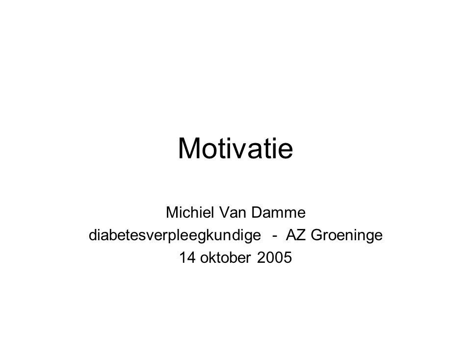 Motivatie Michiel Van Damme diabetesverpleegkundige - AZ Groeninge 14 oktober 2005