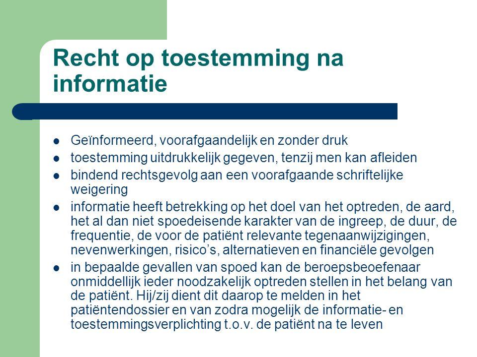 Recht op informatie over de gezondheidstoestand (2) de therapeutische exceptie: Voorwaarden – ernstig nadeel voor de patiënt – voorafgaandelijk een an
