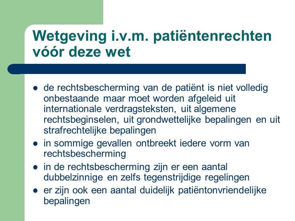Wijzigingen in andere wettelijke bepalingen het voorontwerp van de wet patiëntenrechten brengt ook wijzigingen aan in: – de privacywetgeving – de wet op de landverzekeringsovereenkomst