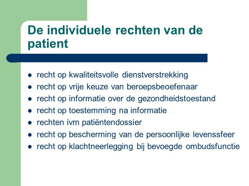 Recht om klacht neer te leggen bij ombudsfunctie voorkómen van klachten door communicatie tussen patiënt en beroepsbeoefenaar te bevorderen bemiddelen met het oog op een oplossing inlichten over de verdere klachtbehandeling informeren over werking van ombudsfunctie aanbevelingen ter voorkoming van klachten