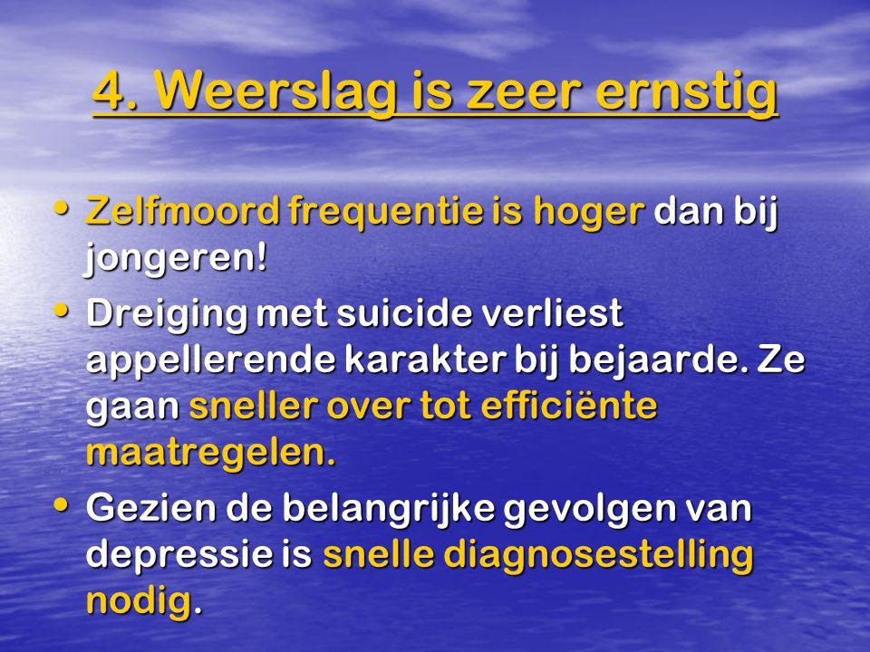 Zelfmoord frequentie is hoger dan bij jongeren! Zelfmoord frequentie is hoger dan bij jongeren! Dreiging met suicide verliest appellerende karakter bi