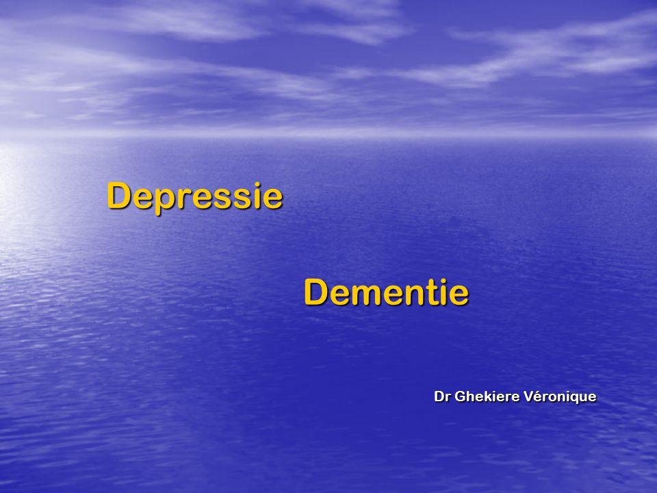 DepressieDementie Dr Ghekiere Véronique