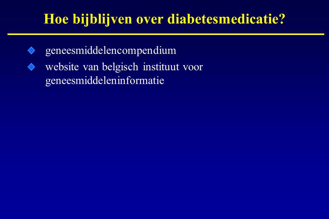 geneesmiddelencompendium website van belgisch instituut voor geneesmiddeleninformatie Hoe bijblijven over diabetesmedicatie?