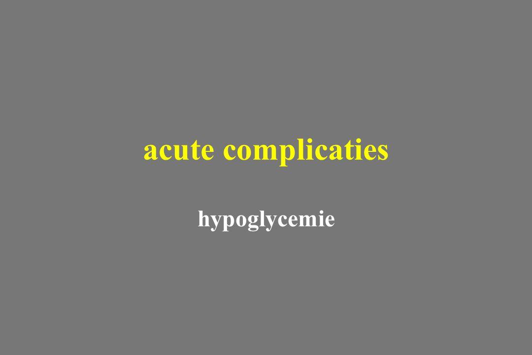 hypoglycemie acute complicaties