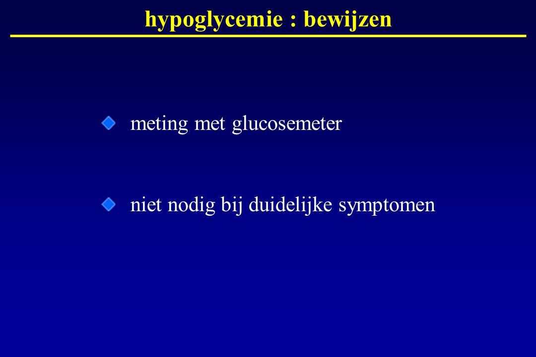 hypoglycemie : bewijzen meting met glucosemeter niet nodig bij duidelijke symptomen