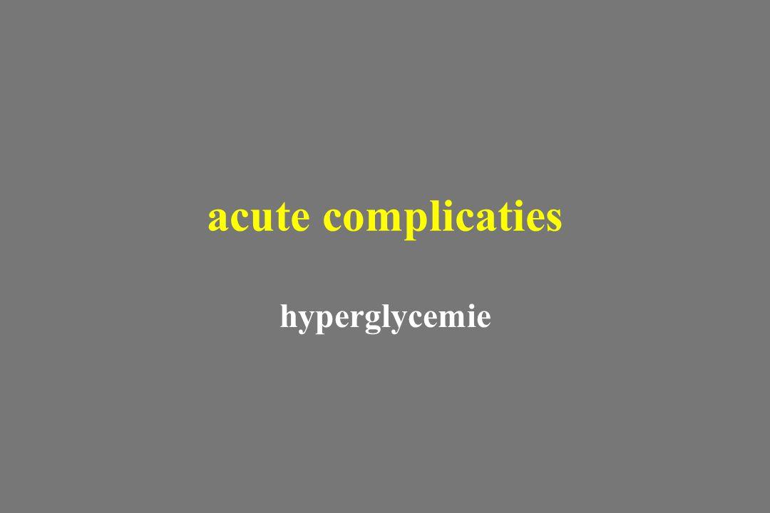 hyperglycemie acute complicaties