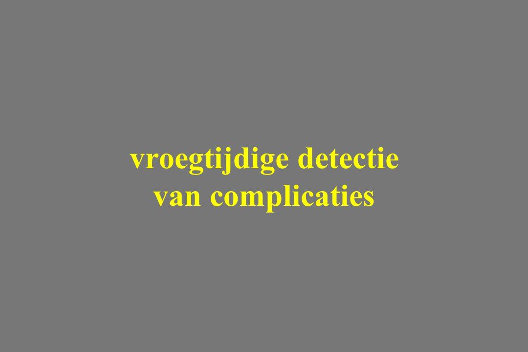 vroegtijdige detectie van complicaties
